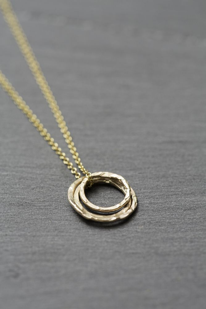 Image of Ana gold necklace. Atelierpurple