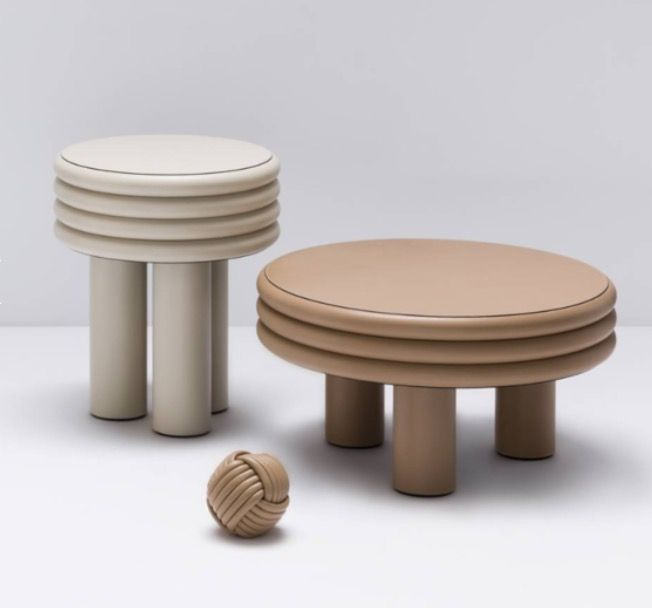 Stool and table Scala by stephane Parmentier