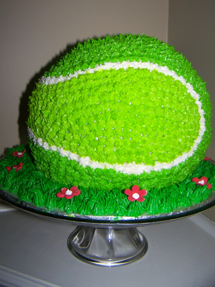 Tennis Ball Cake Birthday cakes Pinterest Tennis ...