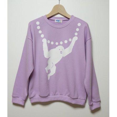 Monkey Necklace Sweatshirt! http://shop.kumikowatari.com/en/tops/22-h.html
