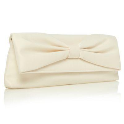 Debut Cream Gathered Bow Clutch Bag At Debenhams