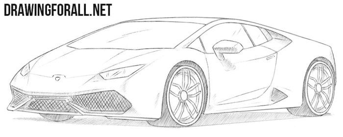 How To Draw A Lamborghini Huracan мощные автомобили