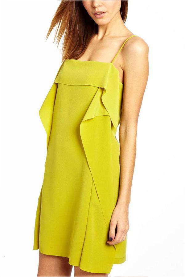 $23.99 Sexy Ruffle Chiffon Cami Slip Dress @ MayKool.com