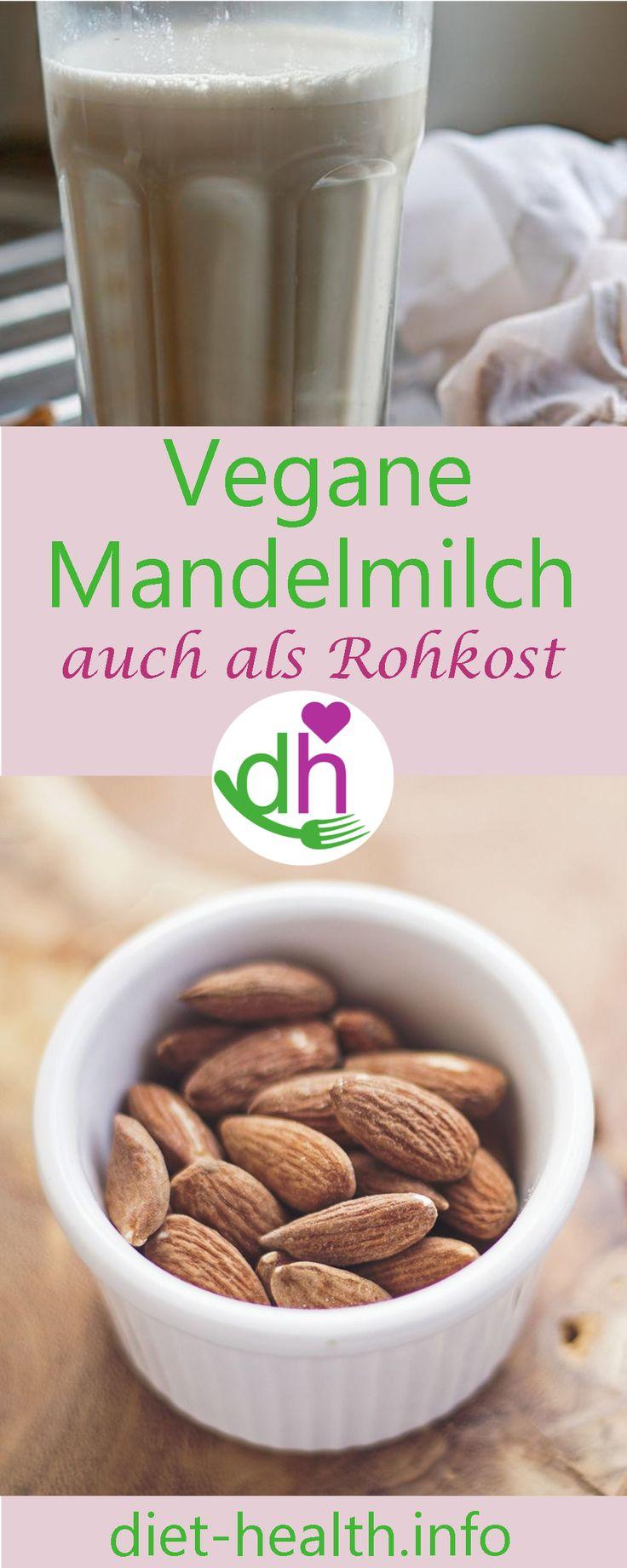 diet & health info: #Mandelmilch ist eine leckere Pflanzenmilch-Variante! Gelingsicheres Rezept für die eigene Herstellung von Mandelmilch! #vegan #plantbased
