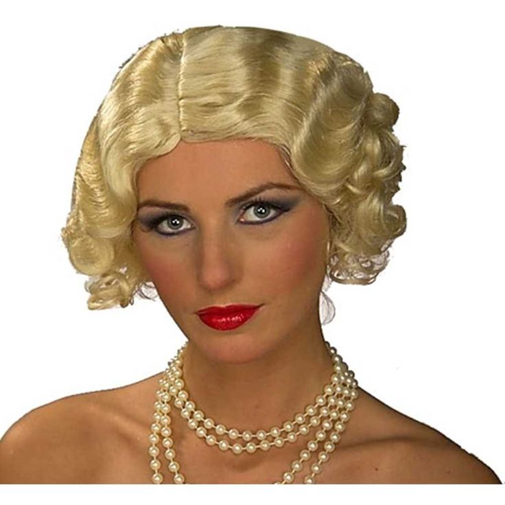 Roaring 20's Flapper Theatrical Wig Blonde