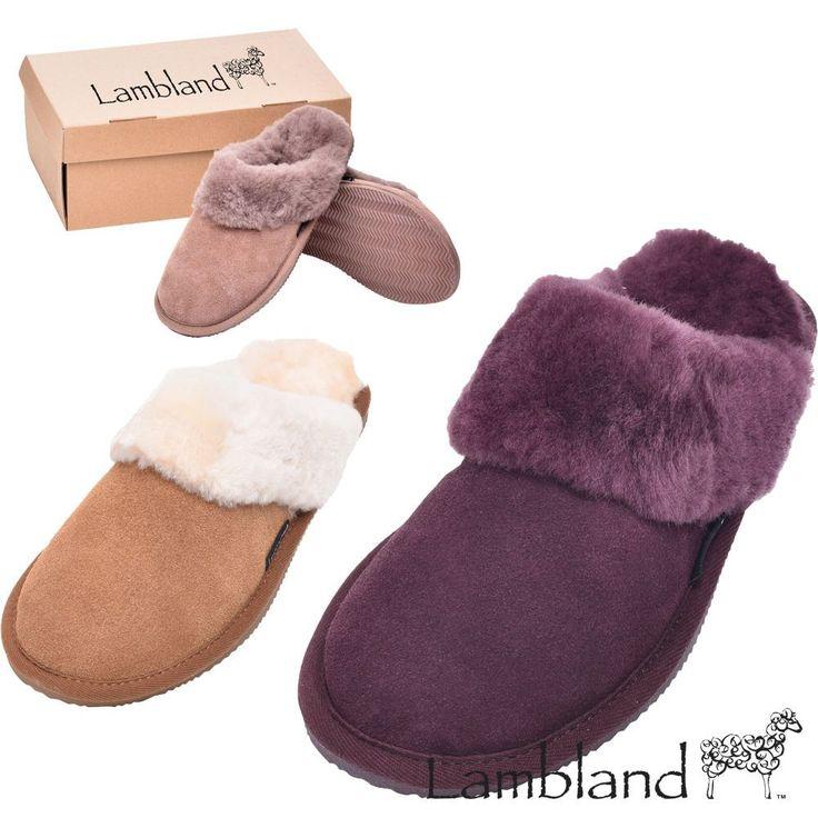 Lambland Ladies Full Sheepskin Slipper Mule With Sheepskin Cuff