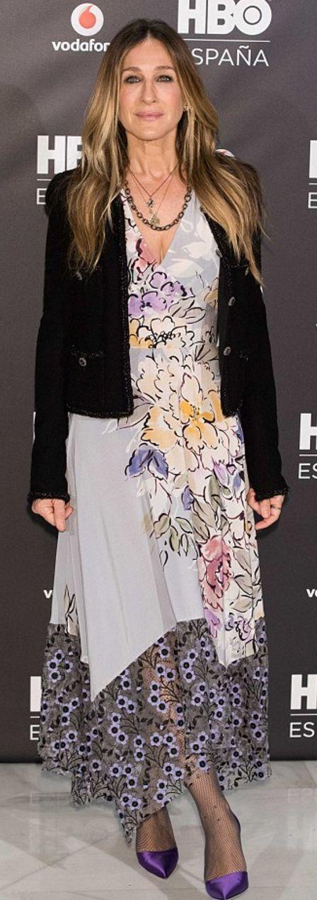 Sarah Jessica Parker': Jacket – Chanel  Dress – Tracy Reese  Shoes – Sarah Jessica Parker