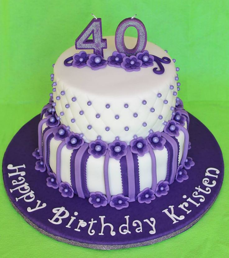 40 Purple Birthday cake (With images) Purple cakes