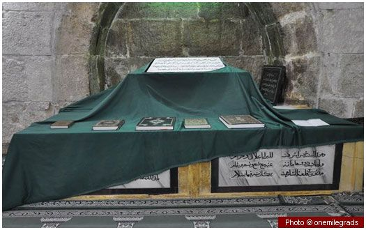 Tomb of Abu Darda (may Allah be pleased with him) This tomb in Damascus belongs to Abu Darda (may Allah be pleased with him), an eminent companion of the Prophet (peace and blessings of Allah be on him). His wife Umm al-Darda is also buried close to him.