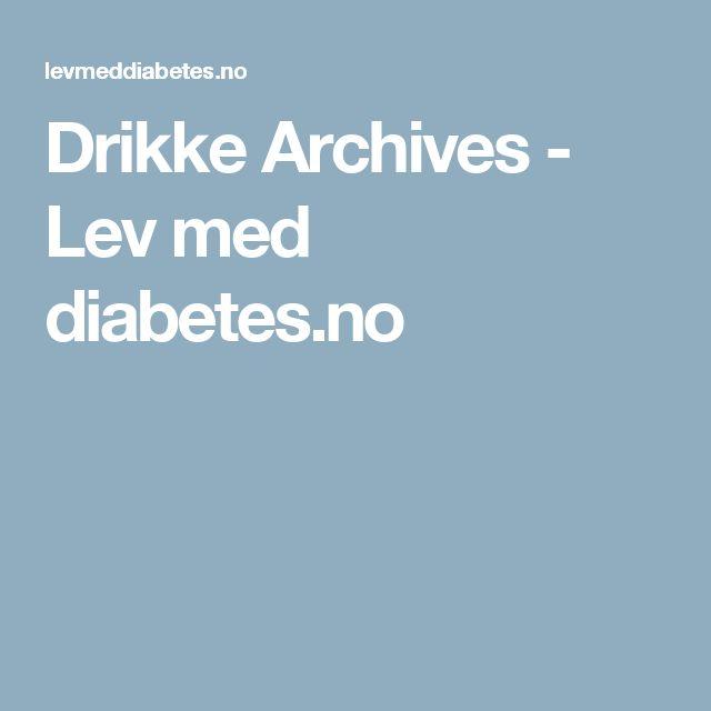 Drikke Archives - Lev med diabetes.no