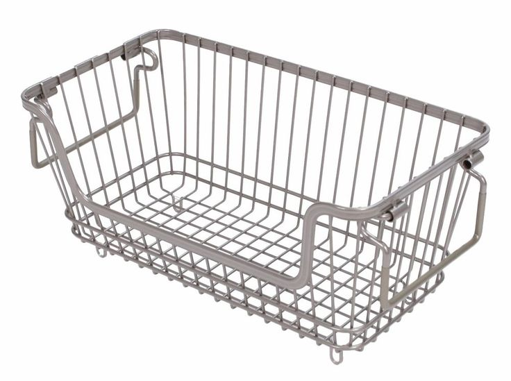 Tidy Living - Small Stackable Wire Basket Silver - Kitchen Bathroom Storage #TidyLiving