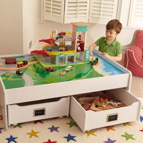 Great Great Little Trading Company Train Table With Storage!