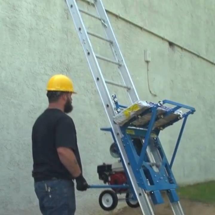 Safety Hoist Roofing Power Ladders Hoists Peoplebazar Ladder Hoist Roofing