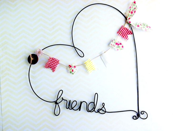 Personalized Heart Shaped Name Sign Custom Wire by kraze4paper