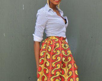 De Afrikaanse Print rok-de Noho Mini