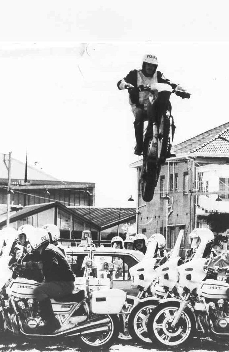 The SA Police Motorcycle Team in action at the 1982 Royal Adelaide Show. #police #Adelaide #RoyalAdelaideShow