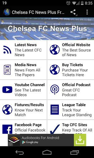 A great Chelsea fc fan needs a great app to accompany them.  This app is light weight and designed to work on all android devices, no matter the spec.Just because the app is light weight does not mean there the features are too though.This app contains:*Direct feeds to the latest official news, media news and ticket info *Follow all the videos uploaded to the Chelsea Youtube channel *Get the latest from The Official Podcast *Track the fixtures and league table *Follow th...