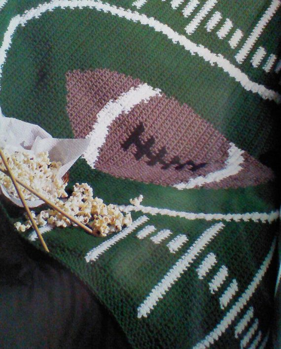 Crochet Pattern For Football Blanket : 23 best images about Crochet sports afghans on Pinterest ...
