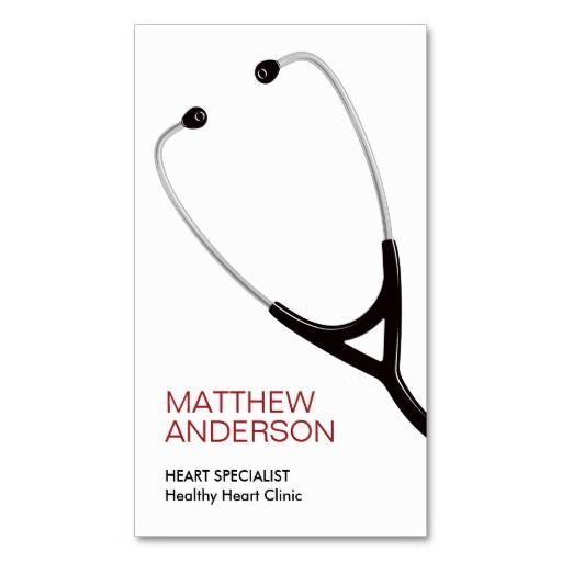 19 best visiting cards images on pinterest business cards modern personal profile or business card featuring a stethoscope customizable name title and business reheart Gallery