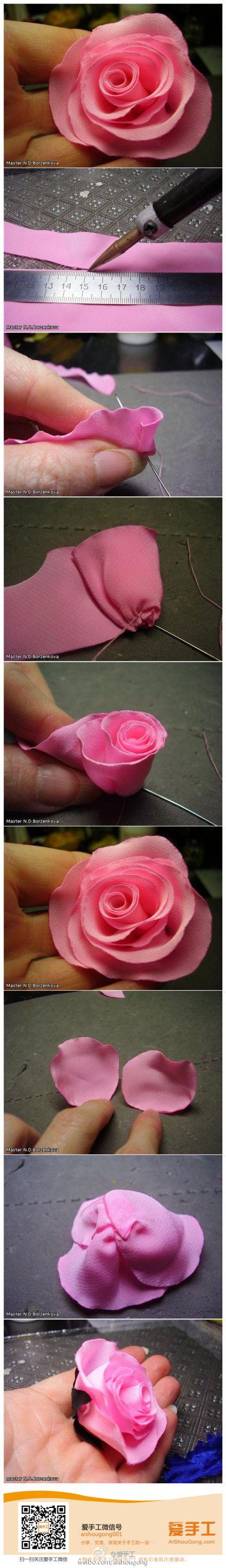 Handmade fabric rose.