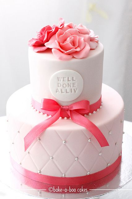 Pink pink roses cake :) by Bake-a-boo Cakes NZ, via Flickr