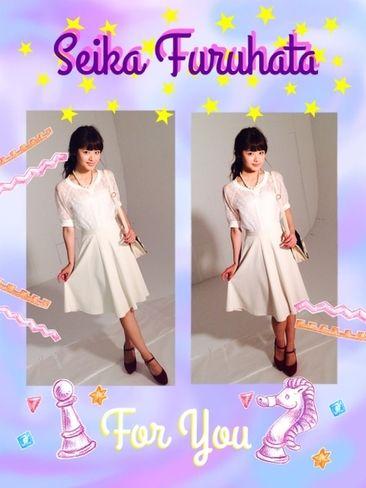 ST毎日コーデ:「古畑星夏だよ。今日は清楚な全身白スタイルです。スカートはちょっと厚手の秋素材。…|Seventeen(セブンティーン)