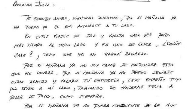 """""""Por si mañana"""": la emocionante carta de un enfermo de Alzheimer a su mujer, un relato de ficción cargado de realidad   Verne EL PAÍS"""