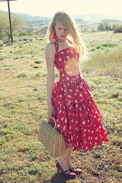 Vintage 50s dress :)