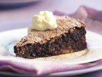 Rich chocolate meringue cake