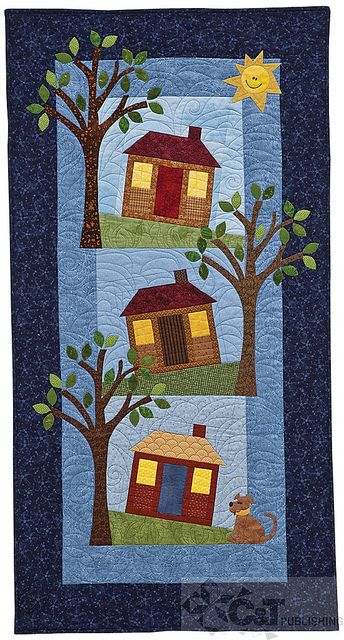 Heartwarming quilted wall hanging.