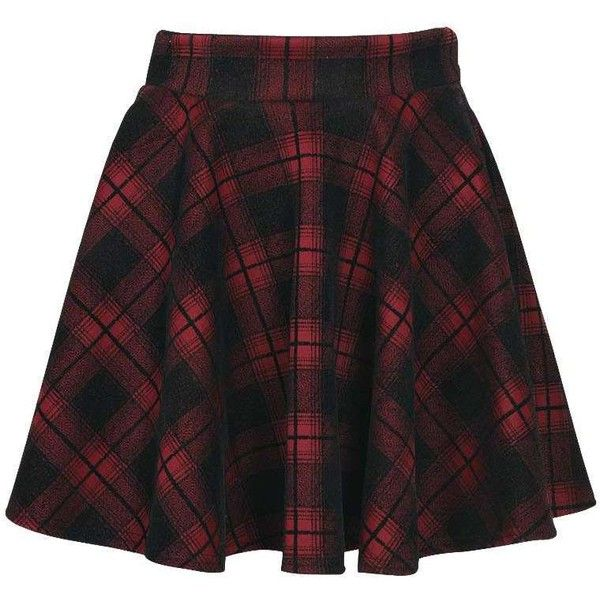 Boohoo Ella Hoched Check Skater Skirt ($16) ❤ liked on Polyvore featuring skirts, bottoms, saias, plaid, pleated skater skirt, plaid skirt, pleated skirt, pleated midi skirt and flared midi skirt