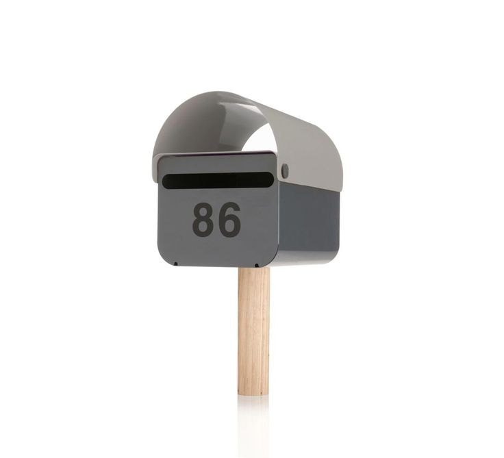 Grey TomTom Letterbox | Lockable Mailbox | Powder Coat Metal | Gardenware | Outdoor