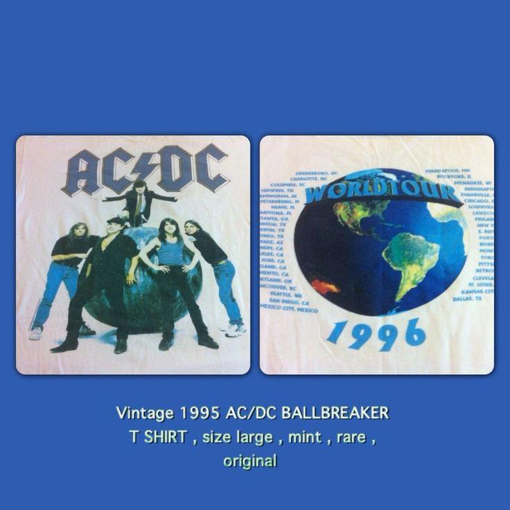 AC/DC 1995 Ballbreaker Concert T Shirt Mint Brockum Size Lg. Rare True Vintage  | eBay