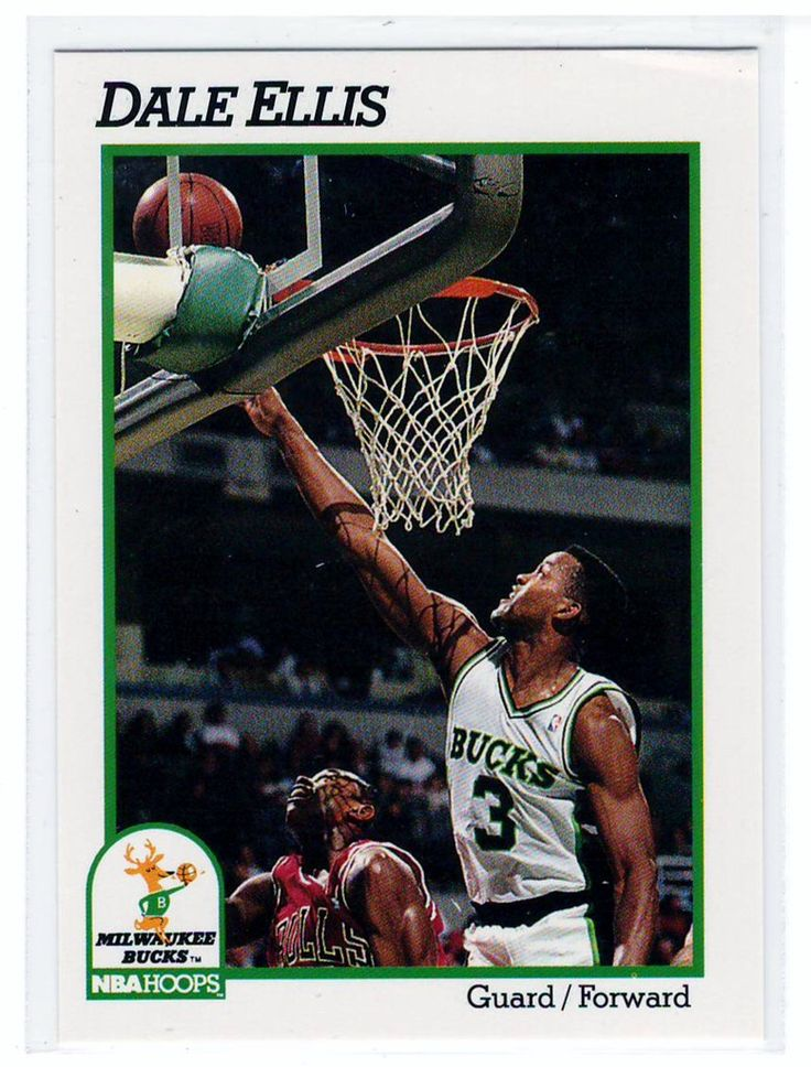 Basketball trading cards 1991 nba hoops dale ellis cards