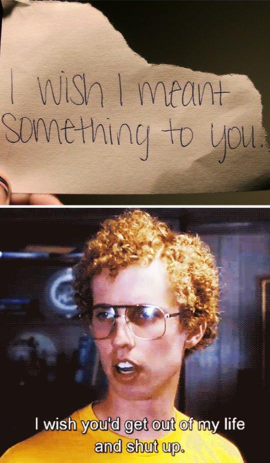 I wish I meant something to you…