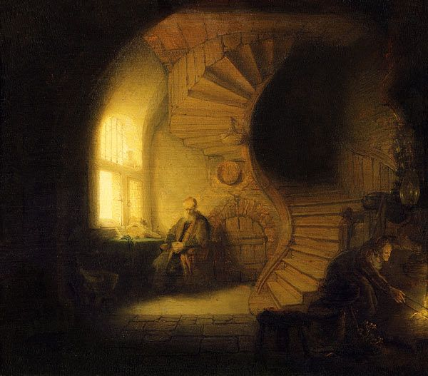 Rembrandt van Rijn-Der Philosoph