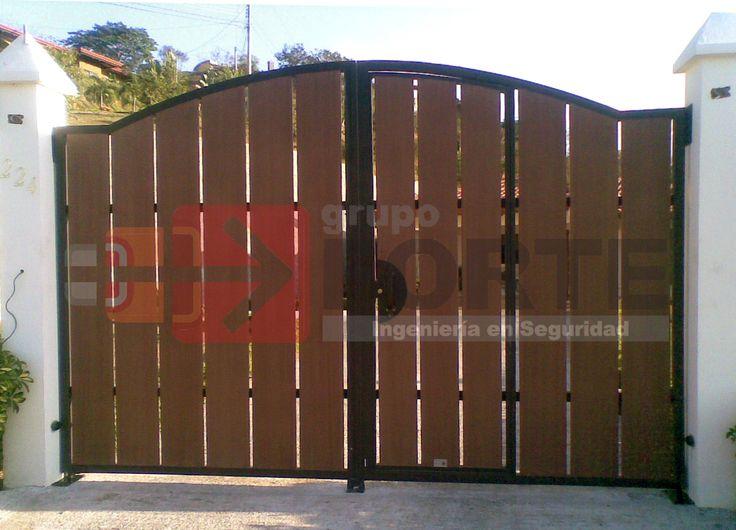 Portones rusticos buscar con google home pinterest for Portones madera rusticos
