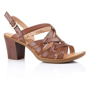 """Born® """"Frederique"""" Leather Sandal with Chunky Heel at HSN.com"""