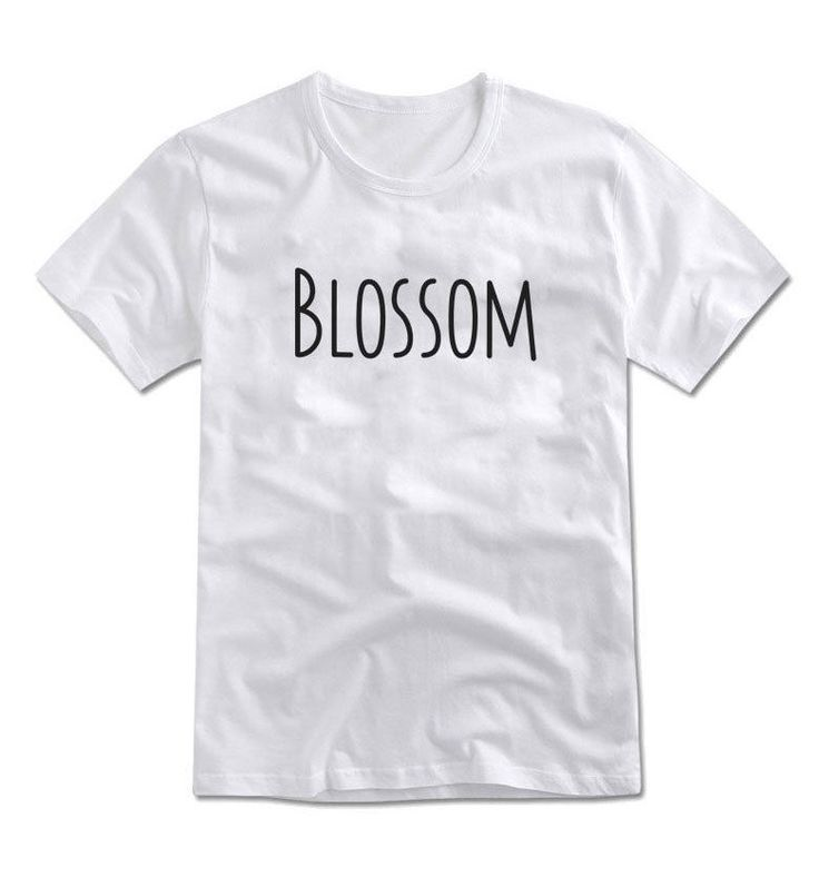 MIRINE Unisex BLOSSOM Letters Print Graphic Cotton Simple Basic T-shirt_4 Colors #MIRINE #CASUAL
