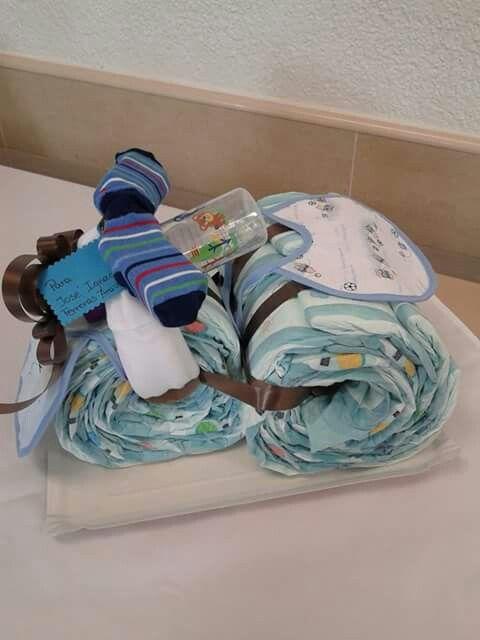 Moto dr pañales idea para baby shower