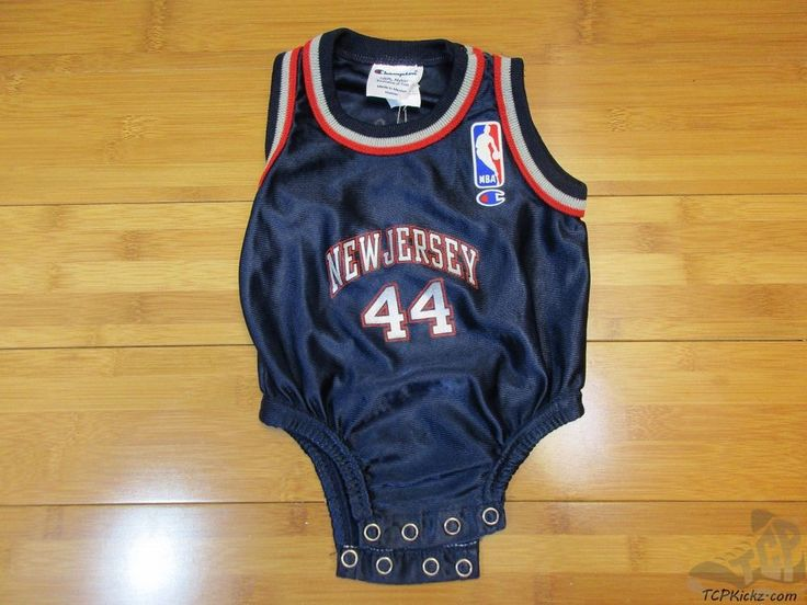 Vtg 90s Champion New Jersey Nets Keith Van Horn One Piece Jersey sz 3 - 6 mos #Champion #NewJerseyNets  #tcpkickz