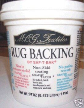 32 oz. RUG BACKING NON SKID COATING for Latch Hook Rugs