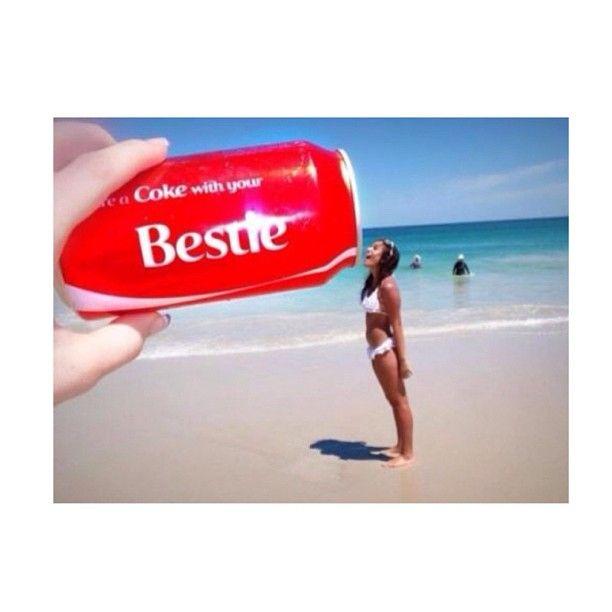 Beach, best friends, coke, summer