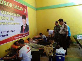Reses, Heri Gunawan Adakan Donor Darah