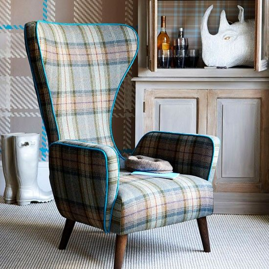 checks tartans tweed fabric chairs - Google Search