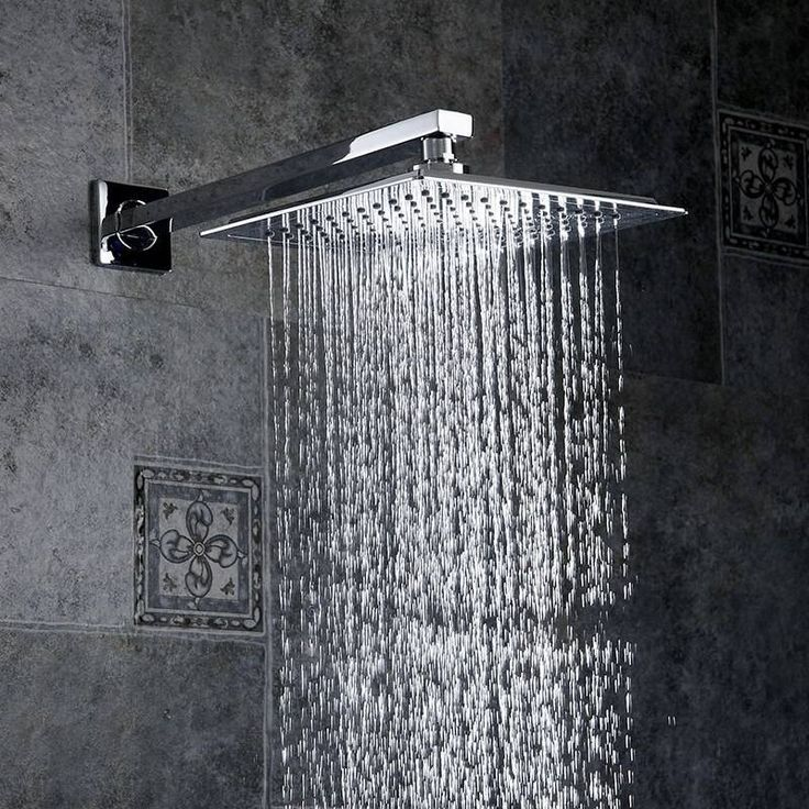 Shower Faucets Chrome Brass Wall Mounted Bathroom Rain Shower Head