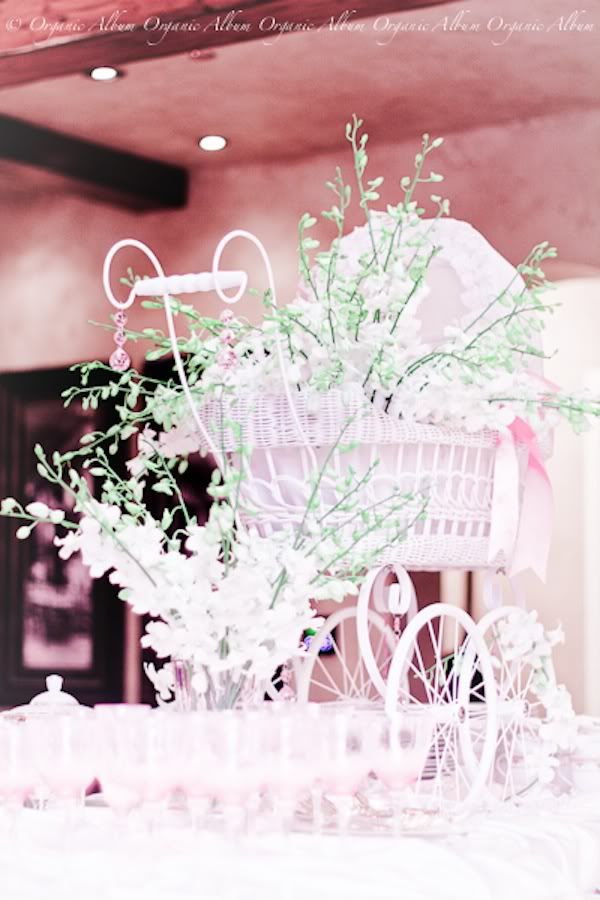 Baby carriage floral centerpiece ooohhh