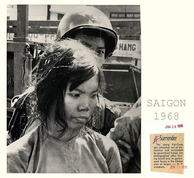 viet cong girls | 1968 Viet Cong Girl Soldier Surrenders to Troops in Saigon - Press ...