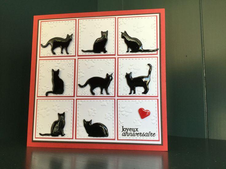 Carte faite main chats