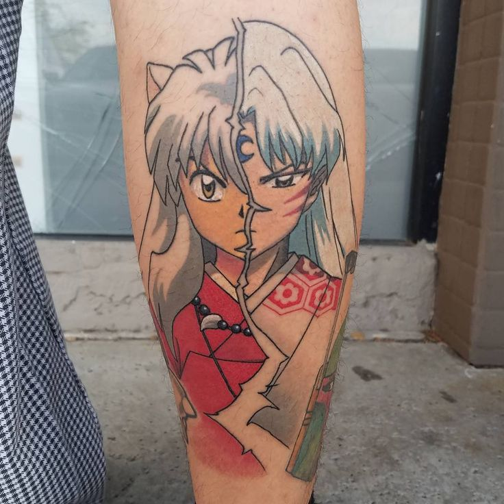 "232 Likes, 13 Comments - JOHN HANSEN (@johnhansentattoo) on Instagram: ""Got to snag a healed photo of this Inuyasha tattoo! #inuyashatattoo #videogametattoos #animetattoo…"""